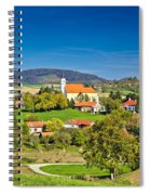 Idyllic Green Nature Of Croatian Village Of Glogovnica Spiral Notebook