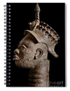 Ife Bronze Royal Head Portrait Spiral Notebook