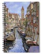 il gatto nero a Venezia Spiral Notebook