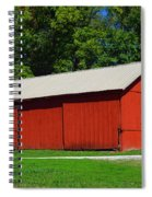 Illinois Red Barn Spiral Notebook