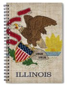 Illinois State Flag Spiral Notebook