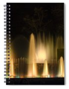 Illuminated Dancing Fountains Spiral Notebook