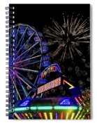 Illuminated Ferris Wheel With Neon Spiral Notebook