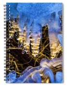 Illuminated Icicles At Sunset Spiral Notebook