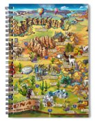 Illustrated Map Of Arizona Spiral Notebook