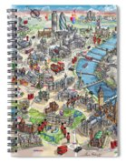 Illustrated Map Of London Spiral Notebook