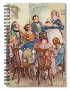 Illustration For A Christmas Carol Spiral Notebook