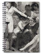 Illustration From La Maison Tellier By Guy De Maupassant  Spiral Notebook