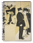 Illustration From Lassiette Au Beurre Spiral Notebook
