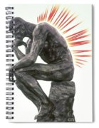 Illustration Of Back Pain Spiral Notebook