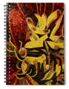 Imagination In Reds And Yellows Spiral Notebook