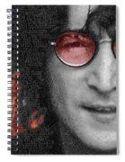 Imagine John Lennon Again Spiral Notebook
