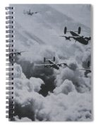 Imagine The Brave Men In These Bombers On A World War II Mission Spiral Notebook