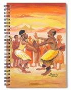 Imbiyino Dance From Rwanda Spiral Notebook