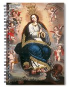 Immaculate Virgin Victorious Over The Serpent Of Heresy Spiral Notebook