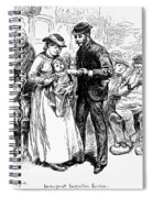 Immigrant Inspection, 1883 Spiral Notebook