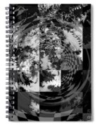 Impossible Reflections B/w Spiral Notebook