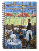 Impresionnist Cafe By Prankearts Spiral Notebook