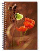Impression With Red Poppies Spiral Notebook