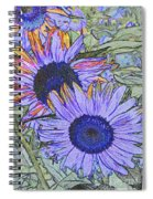 Impressionism Sunflowers Spiral Notebook