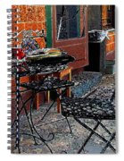 Impressionism The Looney Bean Cafe  Spiral Notebook