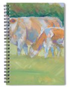 Impressionist Cow Calf Painting Spiral Notebook