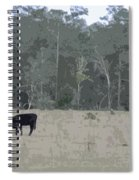 Impressionist Cows Grazing Spiral Notebook