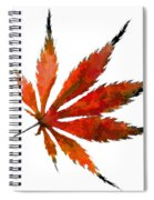 Impressionist Japanese Maple Leaf Spiral Notebook