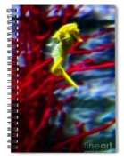 Impressionist Sea Horse Spiral Notebook