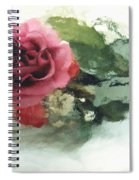 Impressionistic Watercolor Roses, Romantic Watercolor Pink Rose  Spiral Notebook