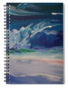 Impressionistic Abstract Wave Spiral Notebook