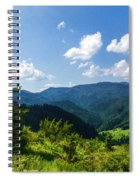 Impressions Of Mountains And Forests And Trees Spiral Notebook