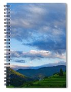 Impressions Of Mountains And Magical Clouds Spiral Notebook
