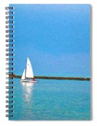 Impressions Of Sailing Spiral Notebook