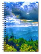 Impressions Of Waterrock Knob On The Blue Ridge Parkway Spiral Notebook