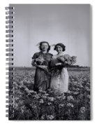 In A Field Of Flowers Vintage Photo Spiral Notebook