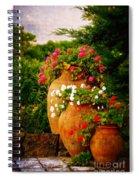 In A Portuguese Garden - Digital Oil Spiral Notebook