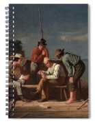 In A Quandary, Or Mississippi Raftsmen Spiral Notebook