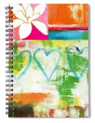 In Bloom- Colorful Heart And Flower Art Spiral Notebook