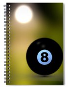 In Front Of The Eight Ball Spiral Notebook