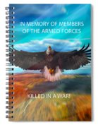 In Memoryof Armed Forces Spiral Notebook