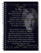 In My Life Golden Scroll Spiral Notebook