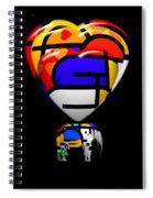 in Space Of Sleep Spiral Notebook