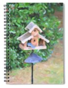 In The Birdhouse - Oil Spiral Notebook