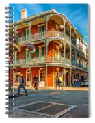 In The French Quarter - Paint Spiral Notebook