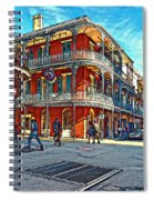 In The French Quarter Painted Spiral Notebook