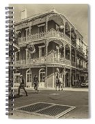 In The French Quarter Sepia Spiral Notebook