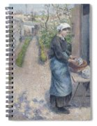 In The Garden At Pontoise A Young Woman Spiral Notebook