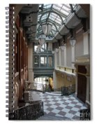 In The Hallway - Peabody Library Spiral Notebook
