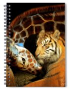 In The Jungle 20150215brun Square Spiral Notebook